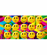 Emoji's All Over Smiley Faces Beach Towel