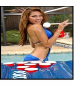 Port-o-Pong Portable Inflatable Beer Pong Table