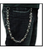Blood Eyes Skull Jean Chain