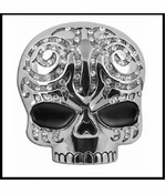 Tribal Skull Belt Buckle