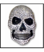 Diamond Rhinestone Skull Belt Buckle