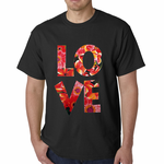Love Floral Pattern Men's T-shirt