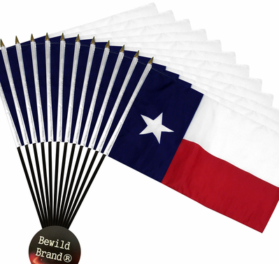 4x6 Inch Texas State Flag (12 Pack)