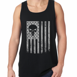 USA - American Flag Military Skull Tank Top