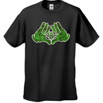 Pot Leaf Pattern Cartoon Hands Men's T-Shirt