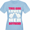This Girl Loves Her Boyfriend Cartoon Hands Women's T-Shirt