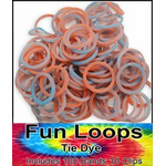 Tie Dye Rubber Band Looms Refill (Red/Blue 100 Pack)