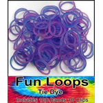 Tie Dye Rubber Band Looms Refill (Purple/Pink 100 Pack)