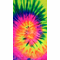Fluorescent Multi Rainbow Tie Dye Fringe Ladies T-shirt