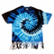 Multi Blue Tie Dye Fringe Ladies T-shirt