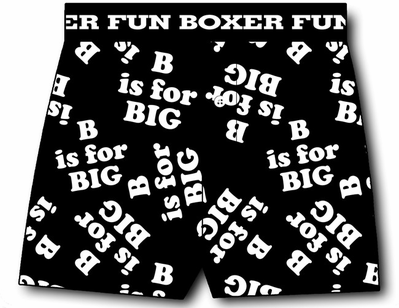 B is for Big Boxer Shorts