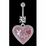 Playboy Heart Navel Jewelry