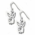 Playboy Outline Dangling Earrings