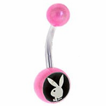 Pretty Pink Playboy Bunny Navel Jewelry