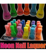 Black Light Neon Nail Lacquer (24 Pack Assorted)