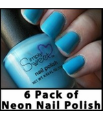 6 Pack of Neon Nail Polish