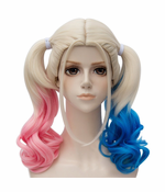 Cosplay Wigs (Blonde, Blue and Pink Pigtails)