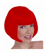 Colored Wigs - Fire Red Colored Wig