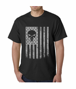 USA - American Flag Military Skull Men's T-shirt