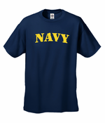US Navy Military Men's T-Shirt (Yellow)