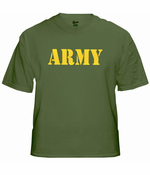 US Army Military T-Shirt (Yellow)