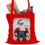 Santa Mug Shot Tote Bag