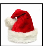 Deluxe Adult Sized Thick Plush Santa Hat