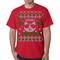 Meowy Christmas Cool Cat with Glasses Ugly T-shirt