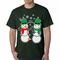 Ugly Christmas Sweater Perverted Snowman Men's T-Shirt