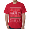 Ugly Christmas Sweater - Jolliest Bunch Of A**Holes Mens T-shirt