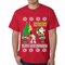 Ugly Christmas Sweater - Santa and the Stripper Men's T-Shirt