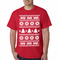 Ugly Christmas Sweater - Snowflake HO HO HO Men's T-Shirt