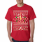 Ugly Christmas Sweater - Sexy Stripper on a Pole Men's T-Shirt