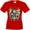 Girl with Skulls and Feather Wings Women's T-Shirt
