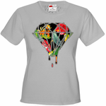 Floral Dripping Diamond Women's T-Shirt
