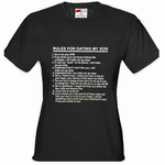 Rules For Dating My Son Women's T-Shirt