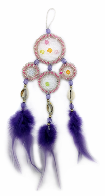 Purple Beaded Dream Catcher