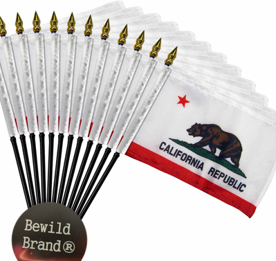 4x6 Inch California Flag (12 Pack)