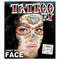 Full Face Temporary Tattoo - Candy Skull