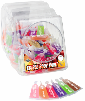 Edible Body Finger Paints (4 Pk) (Blue, Green, Red, Pink)