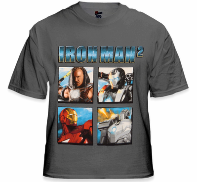 Ironman 2 Four Blox T-Shirt