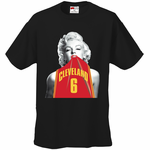 Marilyn Monroe Lebron James #6 Cleveland Cavaliers T-Shirt