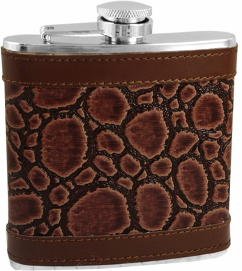 Exotic Leathers 6 oz. Hip Flask