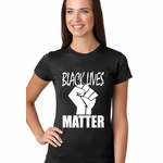 Black Lives Matter Fist Women's T-Shirt