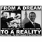 "Barack Obama & Martin Luther King ""From Dream To Reality"" Girls T-Shirt"