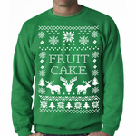 Ugly Christmas Sweater Fruit Cake Crewneck