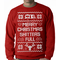 Ugly Christmas Sweater Shitters Full Crewneck