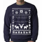 Ugly Sweater He Sees You Shit Faced Crewneck