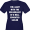 I'm A Lady With The Vocabulary Of A Sailor Girl's T-Shirt