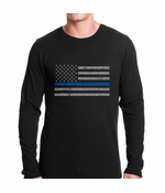 Police Thin Blue Line American Flag Thermal